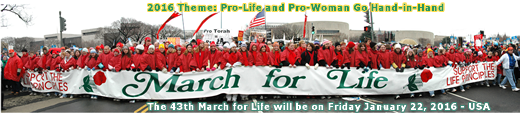 March for Life - Thursday January 22, 2015 Washington, D.C., USA - MarchForLife.org